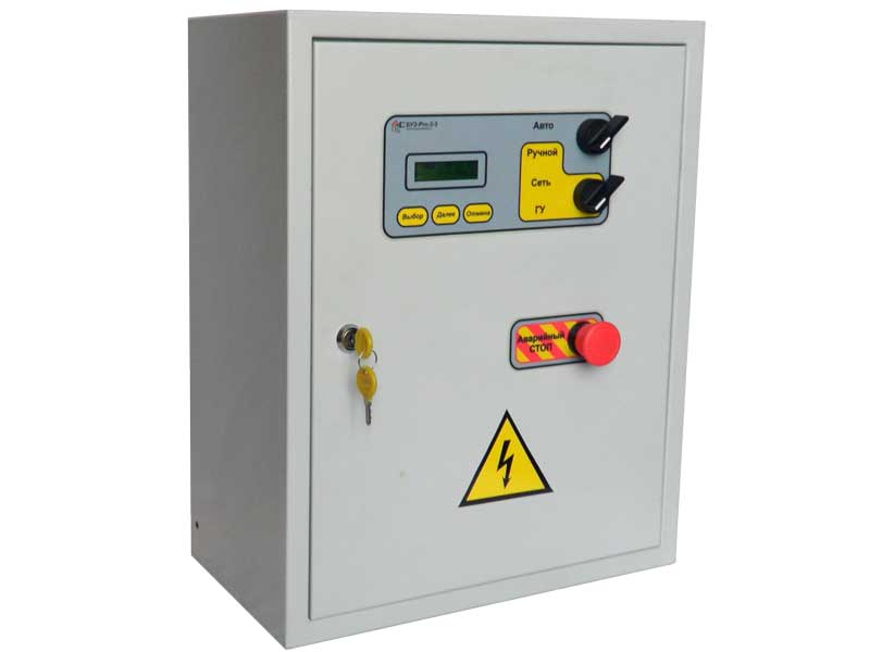 Блок управления электрогенератором БУЭ-Pro, автоматика АВР, автозапуск для генератора